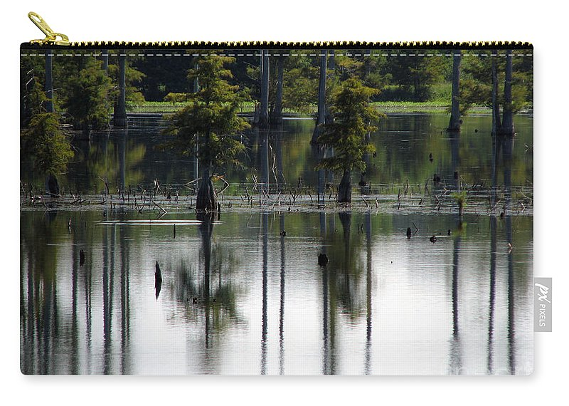Wetlands Carry-all Pouch featuring the photograph Wetland by Amanda Barcon