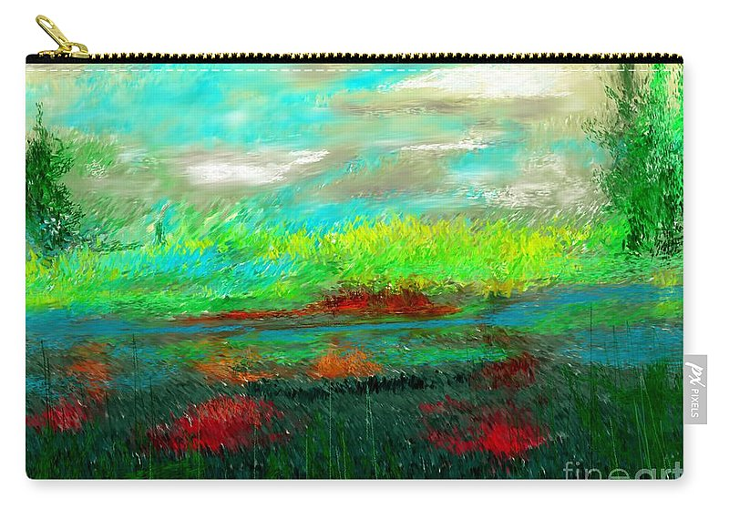 Nature Carry-all Pouch featuring the digital art Wetlands by David Lane