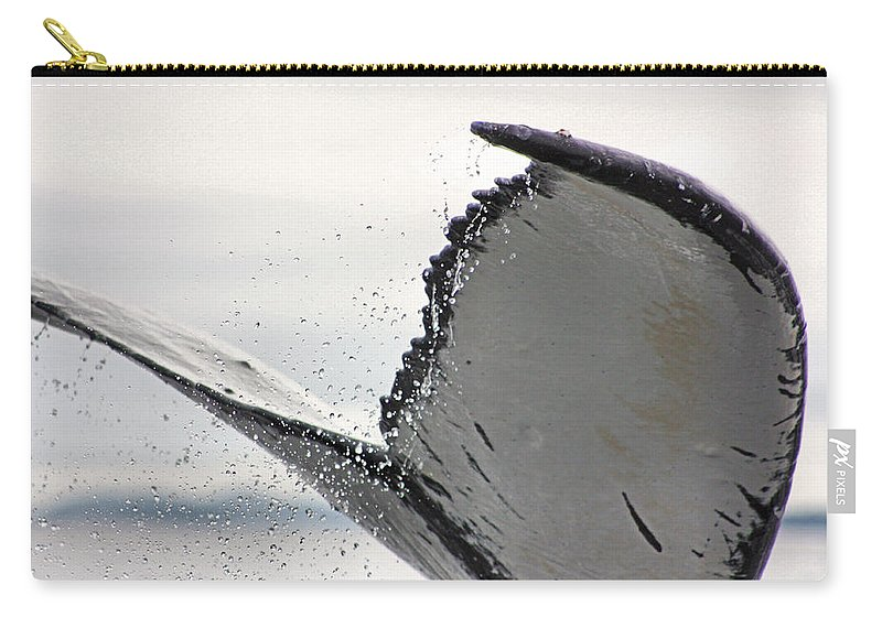 Humpback Carry-all Pouch featuring the photograph Whale Tail Close Up by Kristin Elmquist