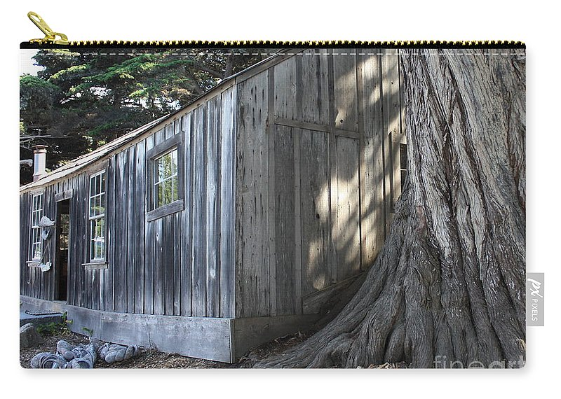 Carry-all Pouch featuring the photograph Whalers Cabin by Carol Groenen