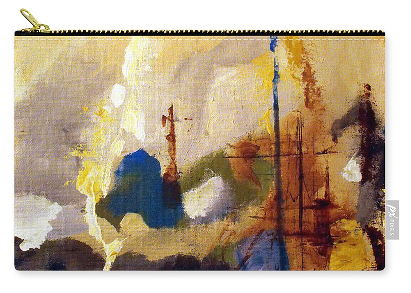 Abstract Carry-all Pouch featuring the painting Wharf by Ruth Palmer