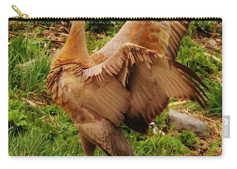 What A Show Off Carry-all Pouch featuring the photograph What A Show Off by Lori Mahaffey
