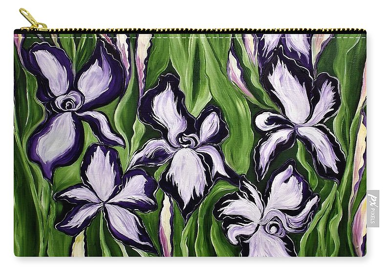 Flowers Carry-all Pouch featuring the painting What A Strange Trip It's Been by Lisa Aerts