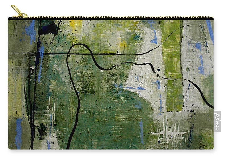 Abstract Carry-all Pouch featuring the painting What Counts Is A New Creation by Ruth Palmer