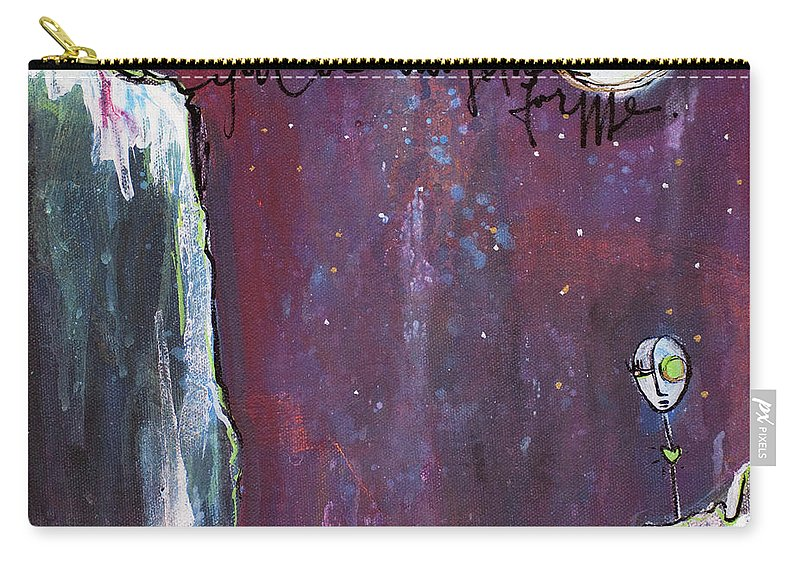 Moon Carry-all Pouch featuring the painting What I Connect To Most Of All by Laurie Maves ART