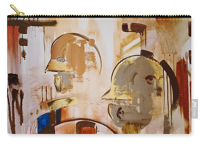 Abstract Carry-all Pouch featuring the painting What Is Identity by Stephen Lucas
