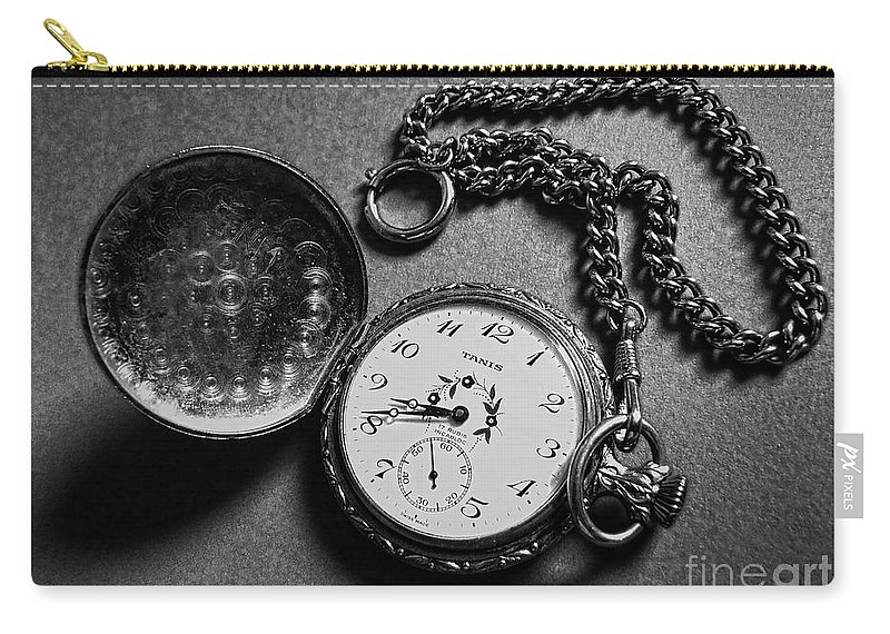 Tanis Carry-all Pouch featuring the photograph What Is The Time? by Jasna Dragun