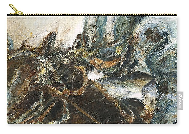 Thoroughbred Carry-all Pouch featuring the painting What It Takes To Win by Francine Stuart
