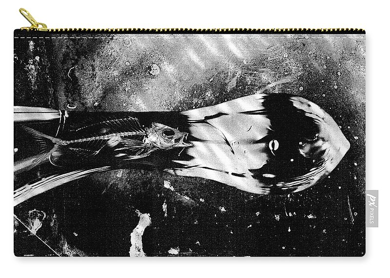 Skeleton Carry-all Pouch featuring the photograph What Lies Beneath by Scott Wyatt