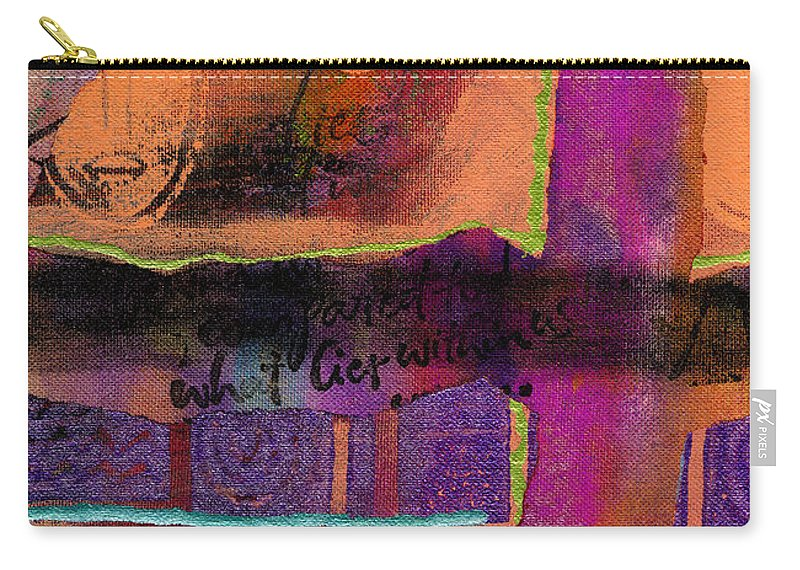 Woman Carry-all Pouch featuring the mixed media What Lies Within by Angela L Walker