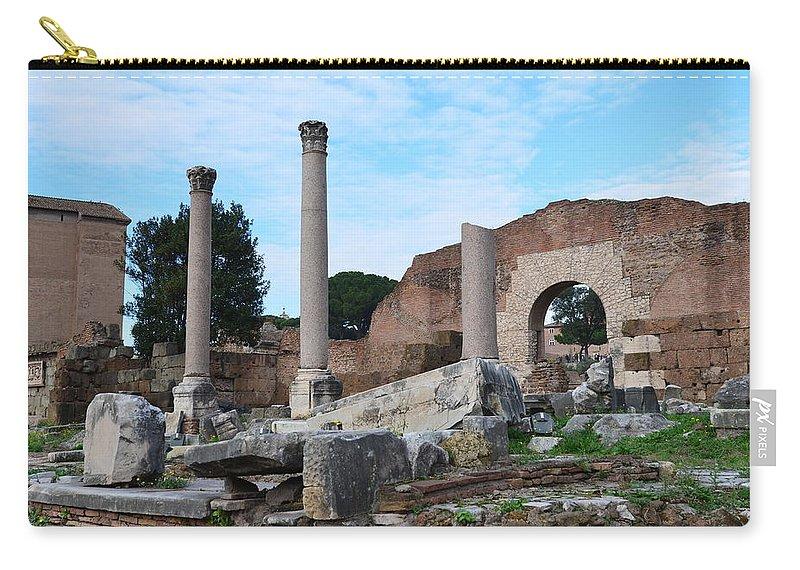 Basilica Aemilia Carry-all Pouch featuring the photograph Basilica Aemilia by Tammy Mutka