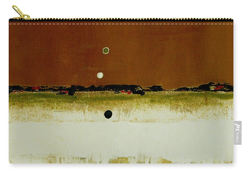 Abstract Carry-all Pouch featuring the painting Whats Your Line by Ruth Palmer