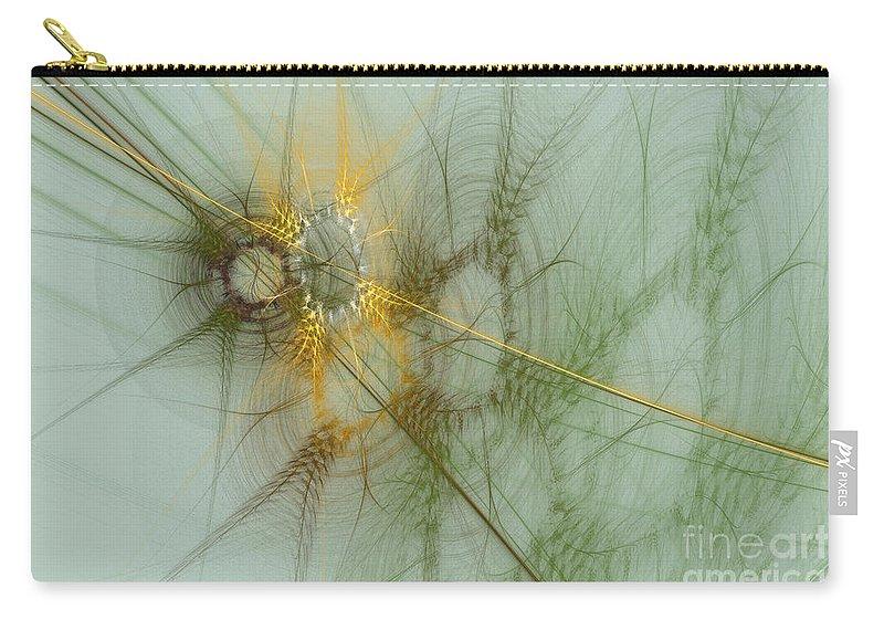 Digital Carry-all Pouch featuring the digital art Wheat Design by Deborah Benoit