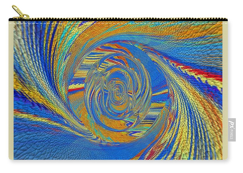 Art Digital Pictures Carry-all Pouch featuring the digital art Wheat Ear by Halina Nechyporuk
