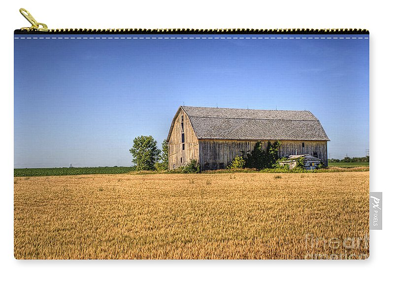 Barn Carry-all Pouch featuring the photograph Wheat Field Barn by Joel Witmeyer