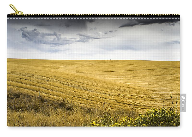 Autumn Carry-all Pouch featuring the photograph Wheat Fields With Storm by John Trax