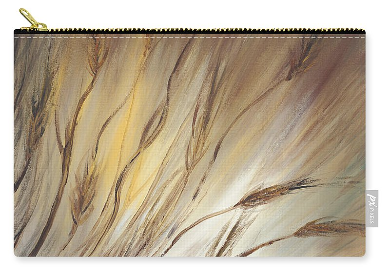 Wheat Carry-all Pouch featuring the painting Wheat In The Wind by Nadine Rippelmeyer