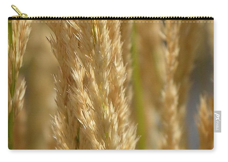 Wheat Carry-all Pouch featuring the photograph Wheat Stalks by Diane Greco-Lesser
