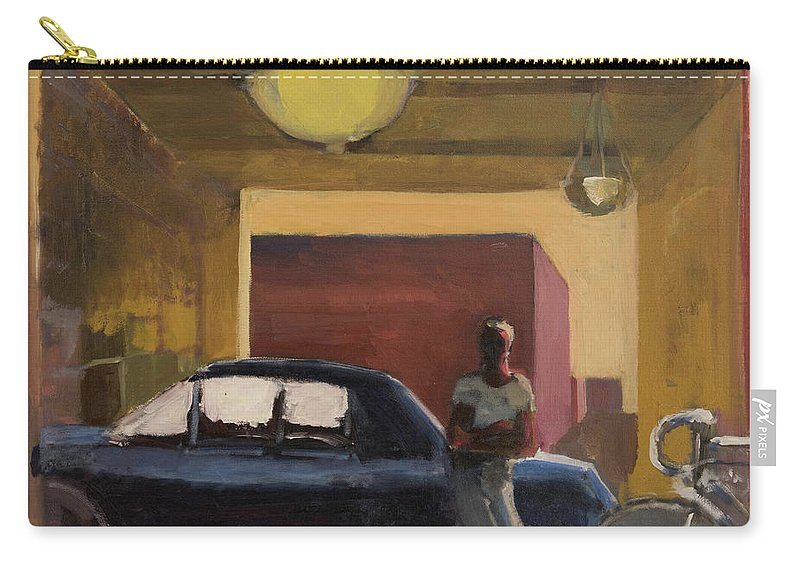 City Carry-all Pouch featuring the painting Wheels In The City by Craig Newland