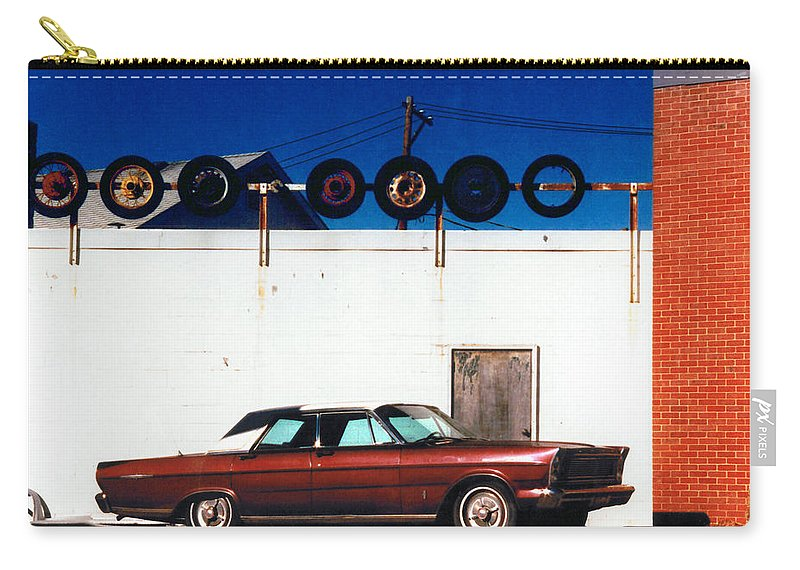 Cars Carry-all Pouch featuring the photograph Wheels by Steve Karol