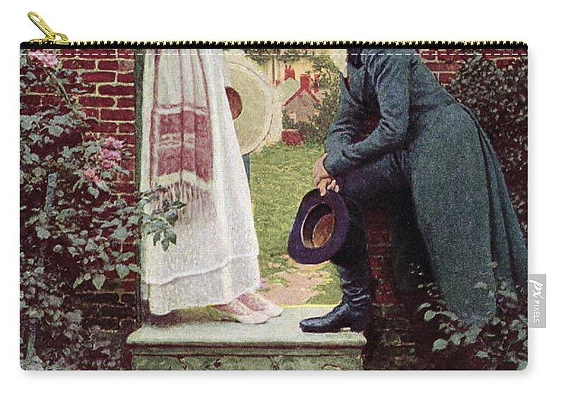 Dating Carry-all Pouch featuring the painting When All The World Seemed Young by Howard Pyle