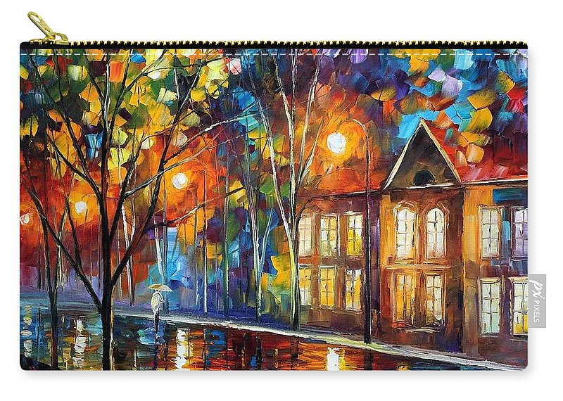 Afremov Carry-all Pouch featuring the painting When The City Sleeps by Leonid Afremov
