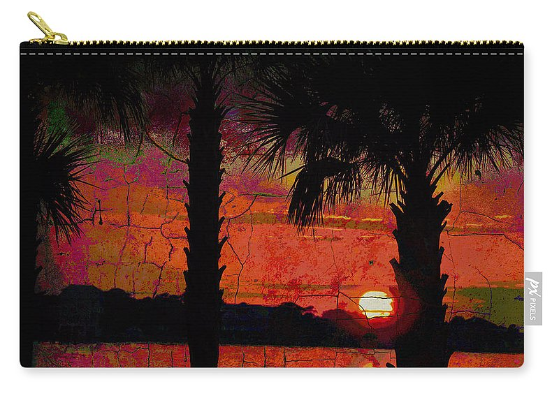 Seascapes Carry-all Pouch featuring the photograph When The Day Ends Time Is Exhausted by Jan Amiss Photography