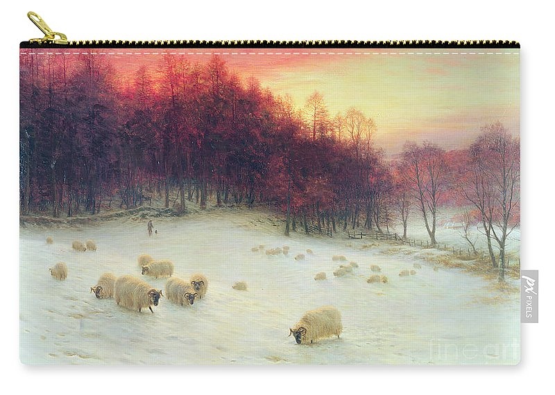 Forest Carry-all Pouch featuring the painting When The West With Evening Glows by Joseph Farquharson