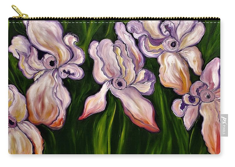 Flowers Carry-all Pouch featuring the painting When Your A Stanger by Lisa Aerts