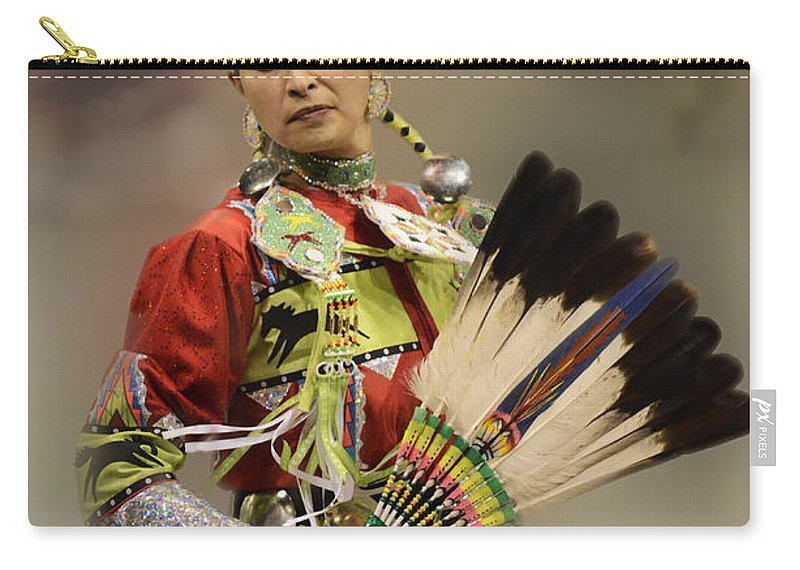 Pow Wow Carry-all Pouch featuring the photograph Pow Wow Where Are You Now by Bob Christopher
