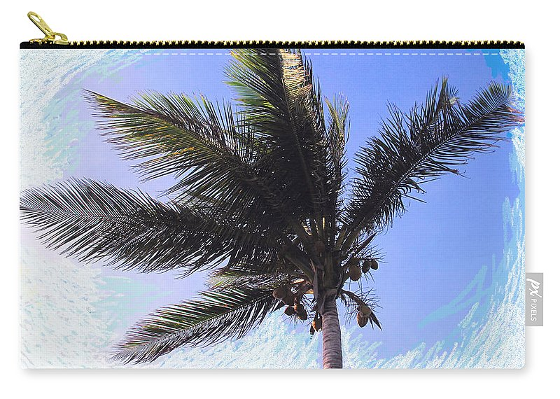 Palm Carry-all Pouch featuring the photograph Where Coconuts Come From by Ian MacDonald