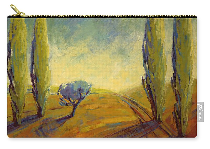 Contemporary Carry-all Pouch featuring the painting Where Evening Begins 2 by Konnie Kim