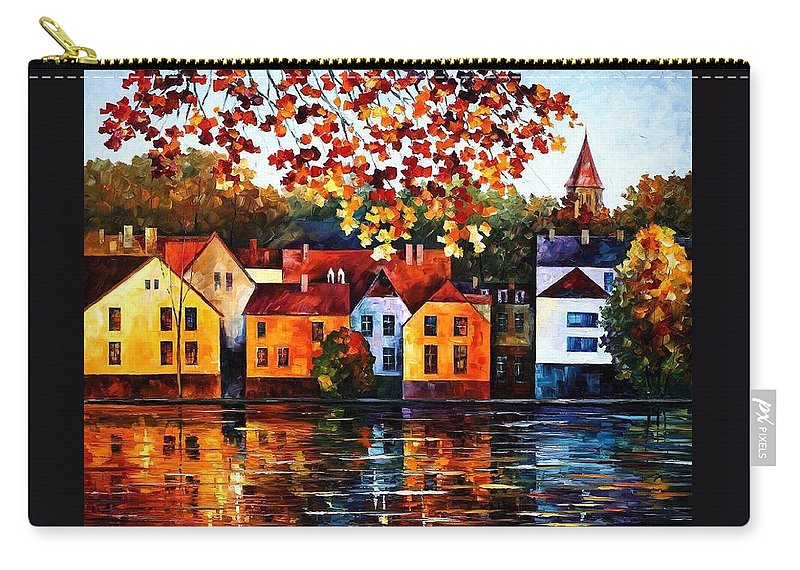 Afremov Carry-all Pouch featuring the painting Where I Grew Up by Leonid Afremov
