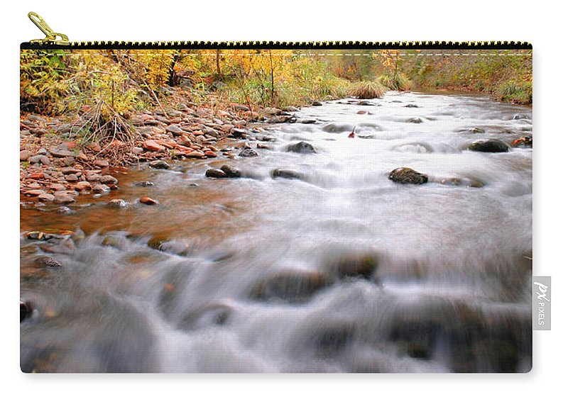 River Carry-all Pouch featuring the photograph Where Peaceful Waters Flow by Kristin Elmquist
