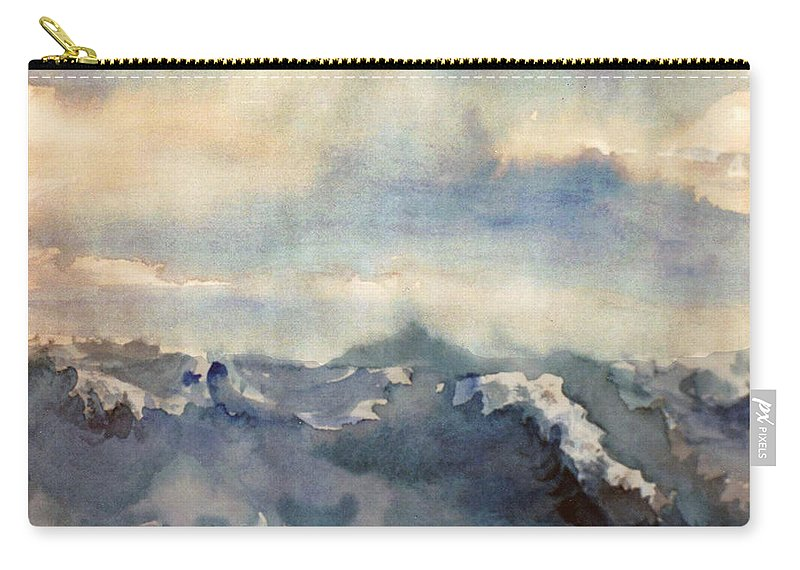 Seascape Carry-all Pouch featuring the painting Where Sky Meets Ocean by Steve Karol