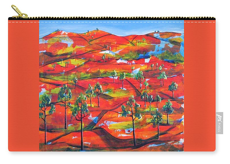 Landscape Carry-all Pouch featuring the painting Where The Road Goes   by Rollin Kocsis