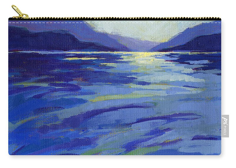 Water Carry-all Pouch featuring the painting Where The Whales Play 1 by Konnie Kim