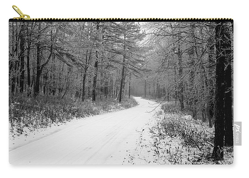 Winter Carry-all Pouch featuring the photograph Where Will It Lead by Jean Macaluso