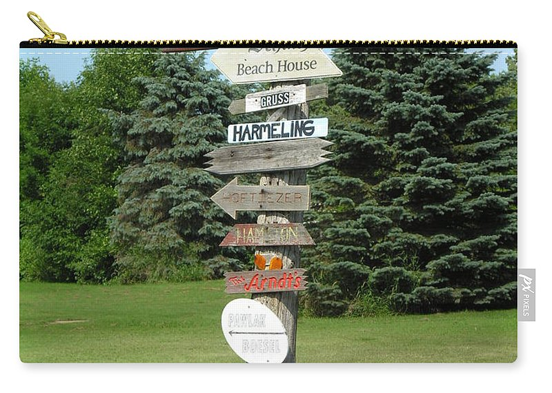 Direction Carry-all Pouch featuring the photograph Which Way Do I Go by Diane Greco-Lesser