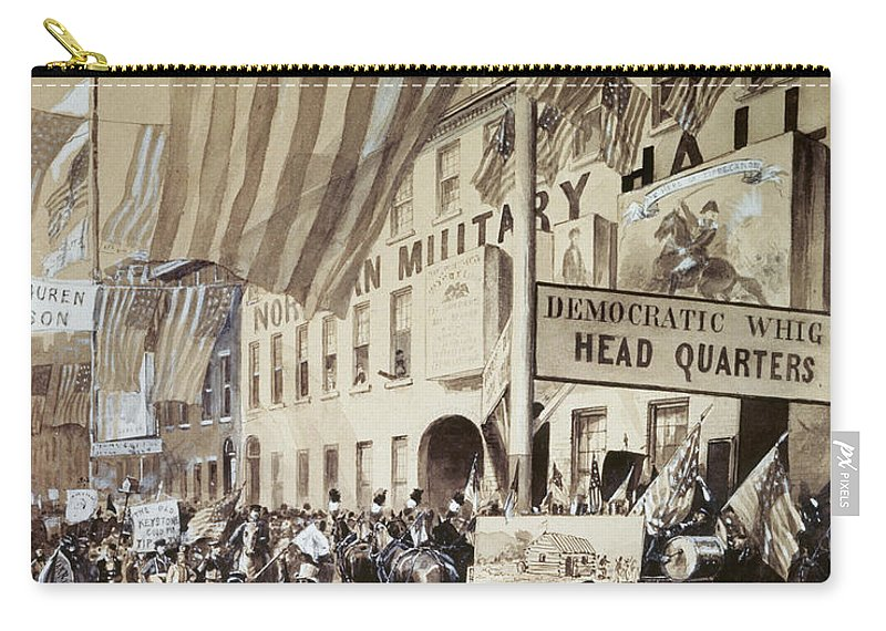 1840 Carry-all Pouch featuring the photograph Whig Party Parade, 1840 by Granger