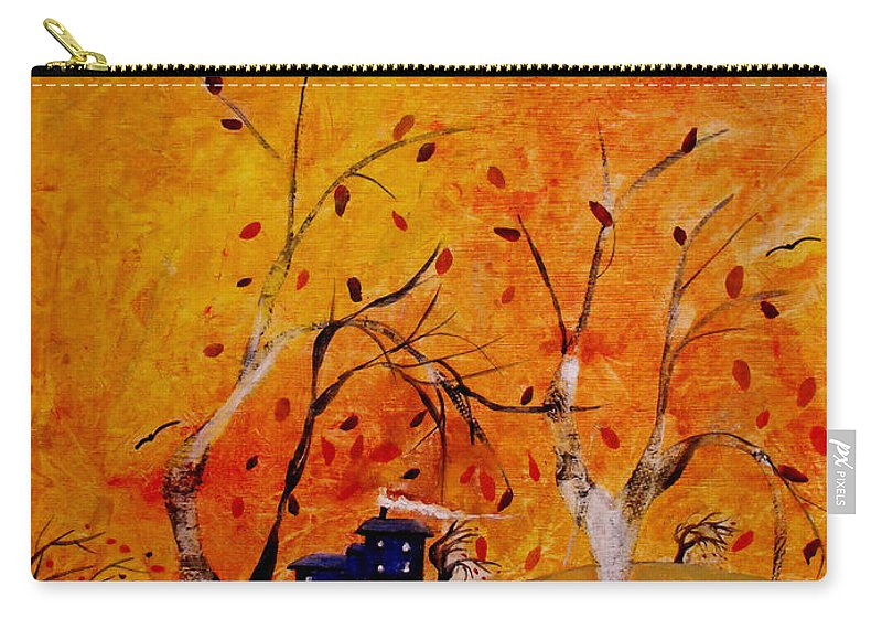 Abstract Carry-all Pouch featuring the painting Whimsical Wind by Ruth Palmer