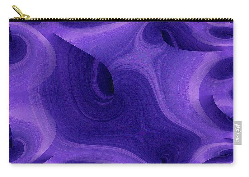 Fractals Carry-all Pouch featuring the photograph Whirlpool 1 by Tim Allen