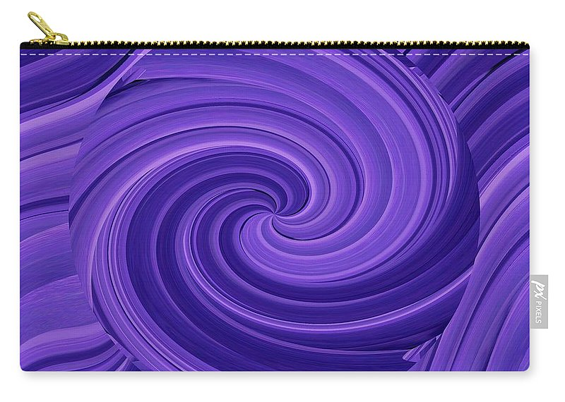 Whirlpool Carry-all Pouch featuring the photograph Whirlpool Blues by Tim Allen