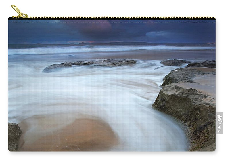 Knight's Beach Carry-all Pouch featuring the photograph Whirlpool Dawn by Mike Dawson