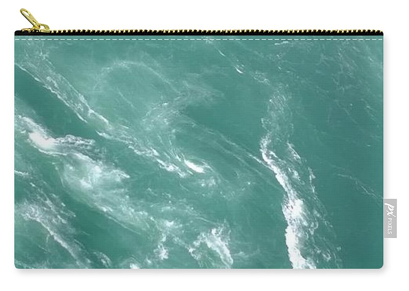 Whirlpool Carry-all Pouch featuring the photograph Whirlpools by Gayle Miller