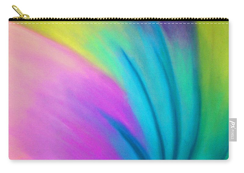 Pastel; Colors; Abstract Drawing Carry-all Pouch featuring the drawing Whirlwind by Jan Gilmore