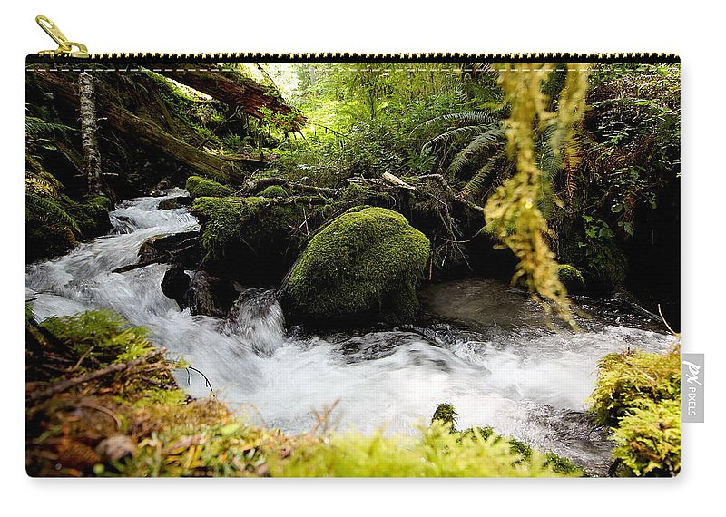 Travel Carry-all Pouch featuring the photograph Whiskey Bend Trail by Nicholas Miller