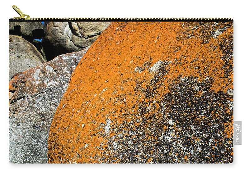 Whicksy Beach Carry-all Pouch featuring the photograph Whisky Rocks by Angela DeFrias
