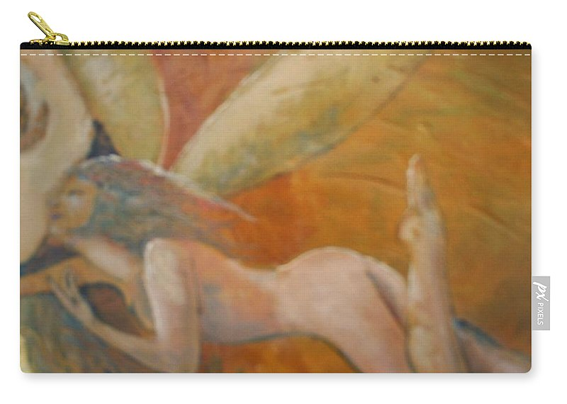 Fairy Carry-all Pouch featuring the painting Whisper by J Bauer