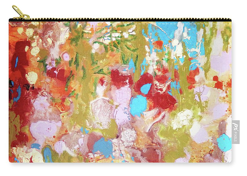 Top Artist Carry-all Pouch featuring the painting Whispering In The Woods by Sharon Nelson-Bianco
